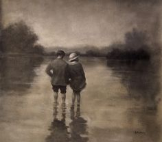 British Figurative Painter Hamish Blakely, very atmospheric.
