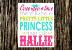 11x14 Digital Princess Wall Art... Once Upon by SweetDaisyDesigns, $14.00