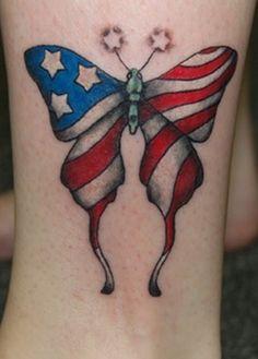 American Flag Tattoos   #tattoo #design #girls www.loveitsomuch.com