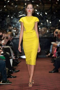 #CorrieNielsenSpring14 RTW- Imagine this on a curvier woman .... it'll just b Hot. Liking the color too