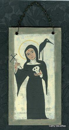 Saint Rita n Raven Retablo