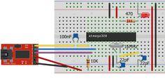Daniele Alberti, Arduino 's blog: Arduino Standalone, schema e circuito