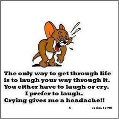I think this is why I tend to start laughing every time something bad happens or I do something wrong