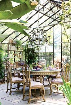 Greenhouse entertaining