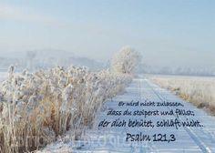 christliche Postkarte 11 - Psalm 121, Winter - Bibel a la Carte - Christliche Karten