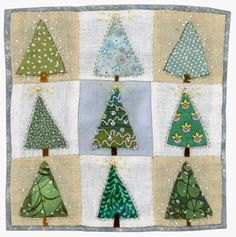 Sharon Blackman: Tribute to Mary Fedden Christmas Patchwork, Christmas Cushions, Christmas Applique, Christmas Sewing, Christmas Quilting, Fabric Cards, Fabric Postcards, Christmas Projects, Christmas Crafts