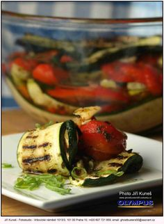 grilled eggplant with zucchini and tomatoes