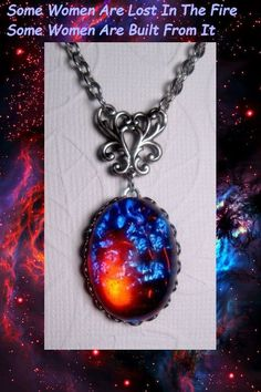Opal Necklace  Galaxy Stone  Dragons Breath by FashionCrashJewelry