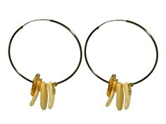 Shell Jewelry Earrings LINDA CLARINI BIJOUX Boucles d'oreille CHARLOTTE teinté Sphynx et coquillages. Cerces percés : grand et petit Teinté Or. http://lindaclarini.org