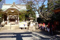猿江神社の境内 開運大絵馬