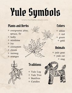 How to celebrate Yule 2020 - Wheel of the Year - Free Grimoire Printable