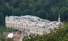 """The Grand Hotel Pupp (Pronounced Poop) Located in Karlovy Vary, Czech Republic. If you seen Queen Latifah's movie """"The Holiday"""" that's the same hotel :)  However, it would be better to take this trip in the winter!"""