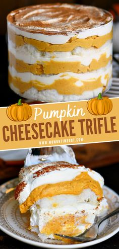 Pumpkin Trifle, Pumpkin Deserts, Pumpkin Cheesecake Recipes, Pumpkin Recipes, Easy Pumpkin Desserts, Thanksgiving Desserts Easy, Fall Dessert Recipes, Delicious Desserts, Christmas Desserts