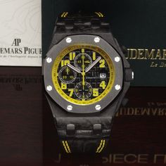 Audemars Piguet Ref. 26176 Bumble Bee - perfect watch to sport while you are relaxing in summer hotspots around the world. This example sold for $32,500 at Antiquorum's Jun 22 auction in New York. Have a watch to consign? Call us at (212) 750-1103 or email clientadvisory@antiquorum.com