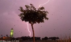 """54stormywill54: """"Wow a bright lightning bolt lights up the skies over the Central Valley this evening AMAZING!! Pic (still frame from the video footage I took) taken from around Santa Nella Village CA just west of Los Banos CA just off I-5. One of the t-storms around had gone severe-warned! A good deal of lightning was observed as this line of storms came right over me. It was an interesting Cinco de Mayo for me (Thursday evening May 5 2016) Weather scenario particularly for May 4-7 2016:A…"""
