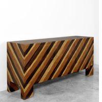 Jean ROYERE (1902 - 1981) Important bahut - 1959 Structure en bois recouverte de placage en marqueterie de bois