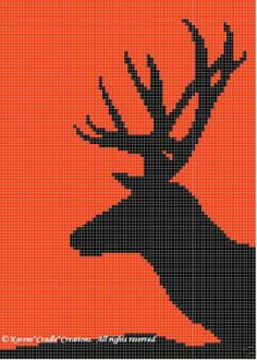 Crochet Patterns - DEER SILHOUETTE pattern *BEGINNER*