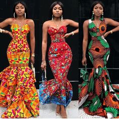 beautiful curvy women ankara gown styles