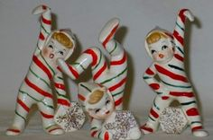Vintage 1950s Christmas Candy Cane Figurines | Crazy for My ...