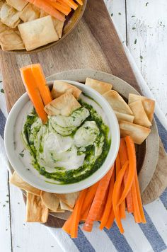 White bean hummus with basil oil drizzle! This low-fat hummus is bursting with fresh flavor, perfect as a dip or spread on sandwiches. Vegan and GlutenFree
