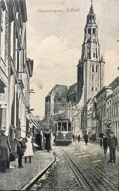 De kaart is afgestempeld op 6 juli 1916 My Images, Holland, Past, Nostalgia, Around The Worlds, History, Country, Street, City