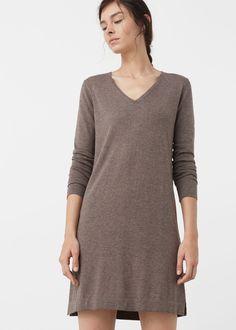 Vestido malha algodão | MANGO