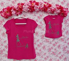 Tee Miss Chic pink - MÃE - Mãe e filha - Lançamentos