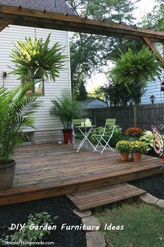 Patio Deck Designs, Patio Design, Patio Ideas, Backyard Ideas, Cheap Deck Ideas, Small Deck Designs, Garden Ideas, Cozy Backyard, Backyard Landscaping