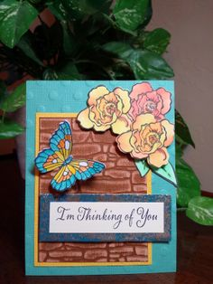 Stamp This- Blog Hop this week June 9-13 with #Stampendous and #Cordenations. The wall background if from Dreamweaver Stencils. By Jamie Martin #cre8time