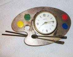 Retro Linden alarm clock in aluminum