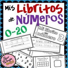 Libritos de números – tus estudiantes se divertirán mientras practican los números.