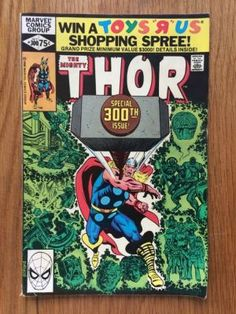 Thor's father Odin decides his son needed to be taught humility and consequently places Thor (without memories of godhood) into the body and memories of an existing, partially disabled human medical student, Donald Blake. Every time Donald's cane touches the floor, it becomes the enchanted hammer Mjolnir. #comic