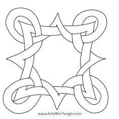 Learn to draw and design freeform Celtic Knots using easy to learn step by step methods .Add Celtic Knots to your Zentangle or Doodling repertoire! Celtic Quilt, Celtic Symbols, Celtic Art, Celtic Knots, Mayan Symbols, Egyptian Symbols, Ancient Symbols, Craft Patterns, Quilt Patterns