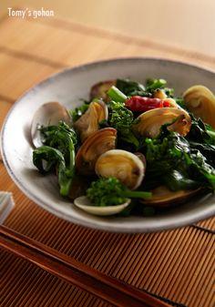Japanese Food / 菜花とアサリの酒炒り