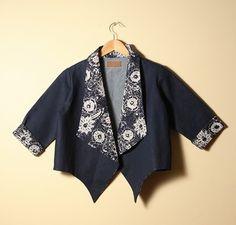 Jaket Batik Wanita Top Jeans  / Hadinah T6001 0