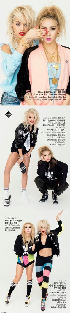 [HQ] 2NE1 CL & Rita Ora for High Cut ❤️
