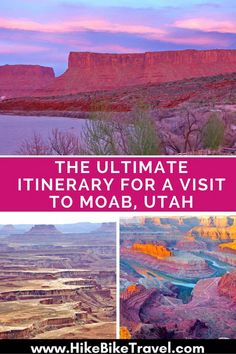 Outdoor Travel usa The ultimate to visit Utah - where to stay, eat and what to do Moab Utah, Utah Hikes, Sedona Arizona, New Orleans, New York, Cool Places To Visit, Places To Travel, Travel Things, Vacation Places