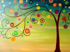 circle tree painting | circle-tree-painting