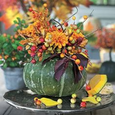 Impressive Fall Planter | Get crafty this fall with our easy DIY fall planter. | SouthernLiving.com