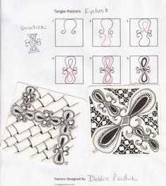 Eyehook Zentangle Pattern