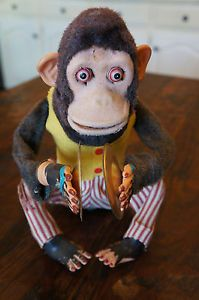 Vintage Mechanical Musical Jolly Clapping Chimp Monkey Cymbals CK Version | eBay