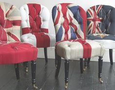 British flag chairs