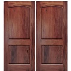 A79-2 Alpine Square Top Arched 2-Panel Entry Doors in Walnut $2260