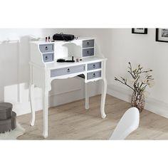 Moderne make-up tafel Louis 105 cm wit/grijs - 36303
