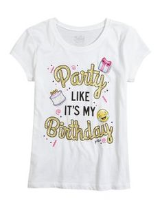Birthday Party Graphic Tee 12th Themes Girl Ideas