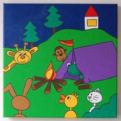 Piep&Ko op de camping 30x30 cm www.piepenko.nl