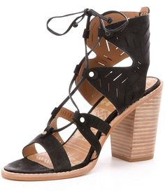 Dolce Vita Luci Women's Sandal Lace Up Stacked Heel (11, Black). 100% Nubuck,Heel Height: High 3 inch to 4.5 inch, Width: Medium (B, M), Occasion: Casual, Style: Sandals. Featuring add a modern, edgy vibe to your look without compromising on comfort or style with the Luci sandal by Dolce Vita. Open toe and open back design with detailed stitching,Laser-cut zig-zag design on nubuck leather upper. Ghillie inspired front lace-up closure with studded accents,Cushioned leather and man-made…