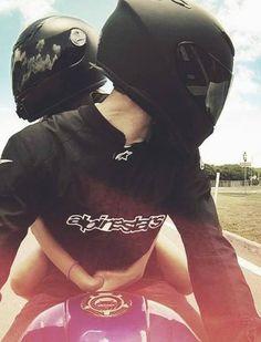 Honda motorcycle couple pictures, bike couple, his and hers cars, re Motorcycle Couple Pictures, Biker Couple, Cute Couple Pictures, Motocross Couple, Motocross Love, Bike Pic, Bike Photo, Motorbike Girl, Motorcycle Style