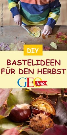 Herbstbasteln: TOP Ideen On GEOlino.de you will find craft ideas for autumn decorations and autumn crafts! with children crafts Easy Toddler Crafts, Halloween Crafts For Toddlers, Winter Crafts For Kids, Autumn Crafts, Easy Crafts, Easy Fall Wreaths, Christmas Wreaths To Make, Simple Christmas, Christmas Crafts