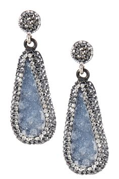 Grand Bazaar | Grand Bazaar Crystal Trimmed Stone Drop Earrings | Nordstrom Rack